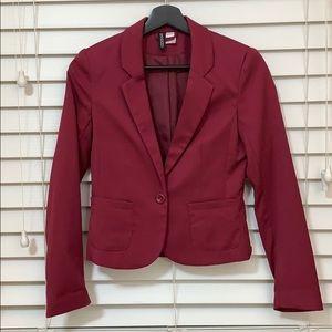 H&M Maroon Blazer Size 2